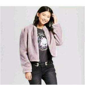 Mossimo purple faux fur jacket
